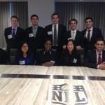 A group of Gabelli School of Business students visited the headquarters of the National Football League recently.