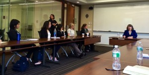 Kathy Cassidy of GE speaks to Fordham University graduate and undergraduate business students.
