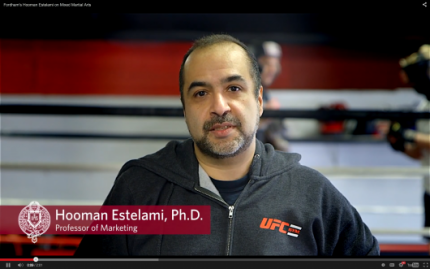Hooman Estelami discusses his new book, Predictors of Victory and Injury in Mixed Martial Arts Combat: A Scientific Study of Professional Fight Records.