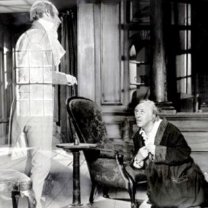 """Michael Hordern as Jacob Marley and Alastair Sim as Ebenezer Scrooge in the 1951 classic, """"A Christmas Carol."""""""