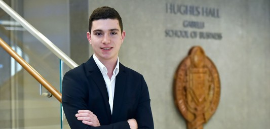 Gabelli School of Business junior Joseph Buccheri. (Photo by Dana Maxson)