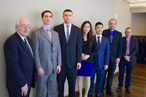From left, team Mentor Charles Stryker, members Brendon Integlia, Michael True, Lushan Li, Alton Tang, Christopher Nealand and adviser Robert Fuest.