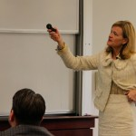 Elizabeth Lilly of GAMCO Asset Management speaks during the Value Investing Executive Education Program, held at Fordham University.