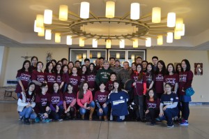 A group of Fordham University's international students helped with the Bread of Life Food Drive on Staten Island.