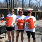 Gabelli School of Business students participated in a cleanup of a park as part of a day of service.