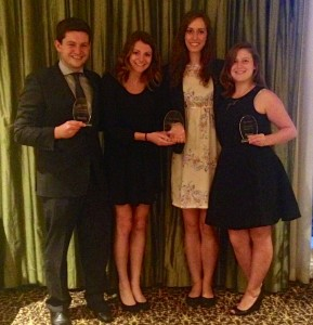 Four Gabelli School seniors won at the International Business Ethics Case Competition in New Orleans.