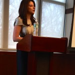 MaryAnne Gilmartin speaks to a Women in Leadership Conference audience.
