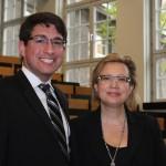 Vincent Pelizzi and Assistant Professor Bozena Mierzejewska in Germany.