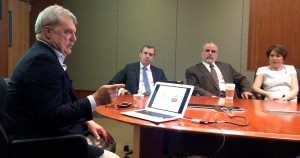 Frank Sirianni, vice president and CIO of Fordham University, speaks to Fordham's CIO Roundtable.