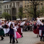 Screen shot from the video of Fordham students' study tour in Poland.