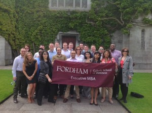 Fordham EMBA students gather for a group picture during a June study tour of Ireland.