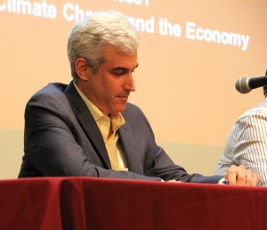 Andrew Winston, during a panel discussion on Pope Francis' views on climate change.