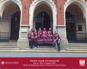 Fordham students visited Poland in May 2015.