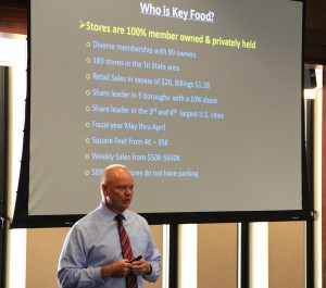 George Knobloch, COO of Key Food, talks to Fordham students on Monday, Oct. 5, 2015.