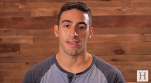Brendan Dagher speaks during a Huffington Post video about climate change and corporate responsibility.