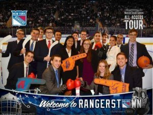 Fordham Business of Sports Society members visited Madison Square Garden recently.