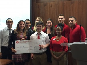 The winning team in the Third Annual Target Marketing Competition.