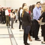 Students and recruiters mingle at the 2015 Networking Carnival.