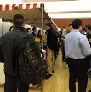 A record-setting number of students attended this year's Gabelli School of Business Networking Carnival, held on Jan. 29, 2016. (Photo by Bailey Link)