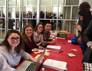 Students enjoyed an afternoon of informal networking at this year's carnival. (Photo by Bailey Link)