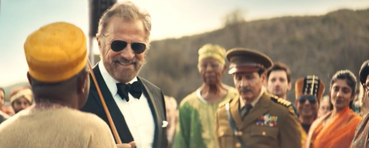 The Most Interesting Man in the World is getting ready to blast off and end his pitching of Dos Equis. (Screenshot from commercial)