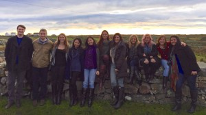Fordham University students during a study tour in Galway.