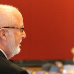 Gerry Byrne, FCRH '66, speaks during the World Media Economics and Management Conference.