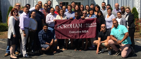 The EMBA Class of 2017 at Lincoln Center.