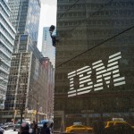 Outside of the Manhattan IBM office