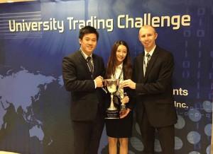 First place team of Yuan Zhou, Yiquan Zhang, and John Mitchell