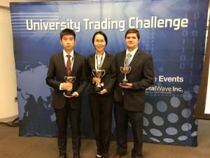Third place team of Aoxiang Jian, Shuonan Zhang, and Sean Burke