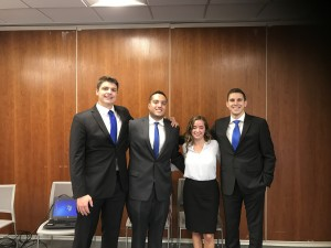 Fordham's winning team at the KPMG International Case Study Competition